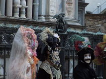 Karneval i Bergano, Italien Arkivbild