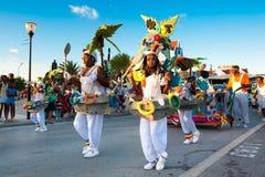 Karneval i Curacao Fotografering för Bildbyråer