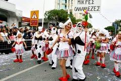 Karneval i Cypern Arkivfoton