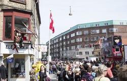 Karneval i Europa, Danmark, Aalborg Royaltyfria Foton