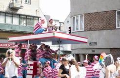 Karneval i Europa, Danmark, Aalborg Arkivbilder