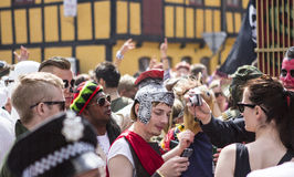 Karneval i Europa, Danmark, Aalborg Royaltyfria Bilder