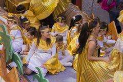 Karneval 2014 i Ibiza, Spanien Arkivbild