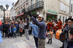 Karneval i Limoux Arkivbilder