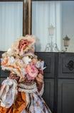 Karneval i Venedig, traditionell italiensk festival för dublin för bilstadsbegrepp litet lopp översikt Arkivbilder