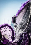 Karneval im Venedig-Festivalkonzept, eine Frau in der Maske lizenzfreie stockbilder