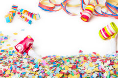 Karneval konfetti, parti, bakgrund royaltyfria foton