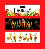 Karneval Ljusa festliga baner som tenderar abstrakt stil Fotografering för Bildbyråer