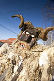 Karneval Masker im Pelz beim 'Busojaras', der Karneval des Begräbnisses des Winters Lizenzfreie Stockfotos