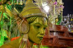 Karneval 2018 - Mocidade Independente de Padre Miguel Lizenzfreie Stockbilder