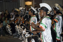 karneval montevideo för 2008 band Royaltyfri Bild