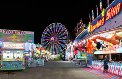 Karneval nachts lizenzfreie stockfotos