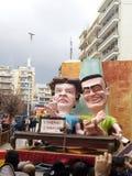 Karneval på patras Grekland 2016 Arkivbild