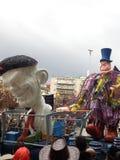 Karneval på patras Grekland 2016 Arkivfoton