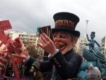 Karneval på patras Grekland 2016 Fotografering för Bildbyråer