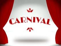 Karneval på teateretappen, inbjudan royaltyfri illustrationer