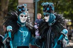 Karneval partitiden i Venetia arkivbilder