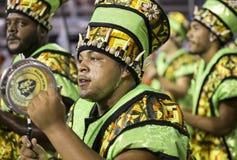 Karneval Samba Percussionist Brazil arkivfoto