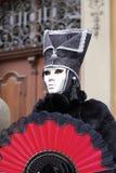 Karneval - silberne Schablone stockbild