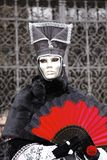 Karneval - silberne Schablone stockfoto