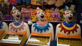 Karneval som skrattar clowner Arkivfoton