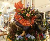 ` Karneval ` Thema-Blumendekoration während der berühmten Macy-` s Show einjähriger Blume stockfotografie
