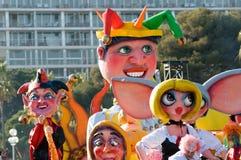 karneval trevliga france Arkivfoto