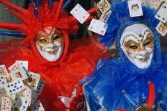 Karneval in Venedig - Masken lizenzfreie stockfotografie