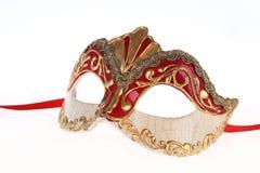 karneval venetian isolerad maskering Arkivbild