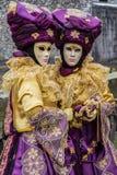 Karneval Venitien d Annecy 2013 - Zwillinge stockfotos