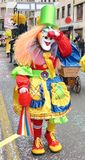 Karneval von Basel - Farbe lizenzfreie stockfotos