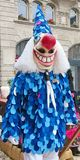 Karneval von Basel - Kostümblau stockbild