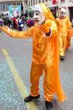 Karneval von Basel - orange Kleid lizenzfreies stockbild