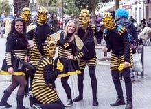 Karneval von Cadiz stockfotos