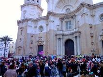 Karneval von Cadiz 2017 andalusia spanien lizenzfreie stockbilder