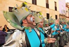 Karneval von Cadiz, Andalusien, Spanien Stockbild