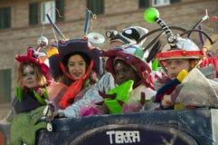 Karneval von Fano stockfoto