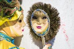 Karneval von Venedig-Masken Stockfoto