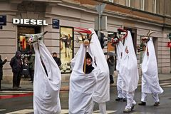 Karneval Zagreb 2018, Kroatien, 20 Lizenzfreie Stockfotografie