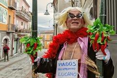KARNEVAL ZITA SATRIANO LUCANIA Lizenzfreie Stockfotos