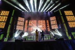 Karnevalberömmar i Vigo - 2018 Arkivbild