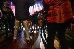 Karnevalberömmar i Vigo - 2018 Arkivfoton