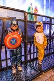 Karnevalberömmar i Vigo - 2018 Arkivbilder