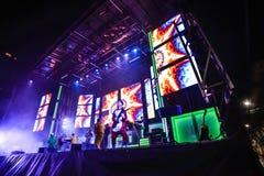 Karnevalberömmar i Vigo - 2018 Arkivfoto