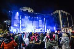 Karnevalberömmar i Vigo - 2018 Fotografering för Bildbyråer