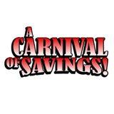 karnevalbesparingar Arkivbild