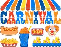 karnevalclipart eps Arkivfoto