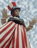 karnevalclown Arkivbild