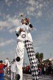 Karnevalclown Fotografering för Bildbyråer