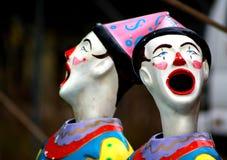 karnevalclowner Royaltyfria Bilder